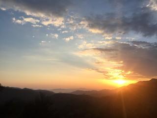 Sunset view on southwest coast (Göcek, Turkiye 2017)