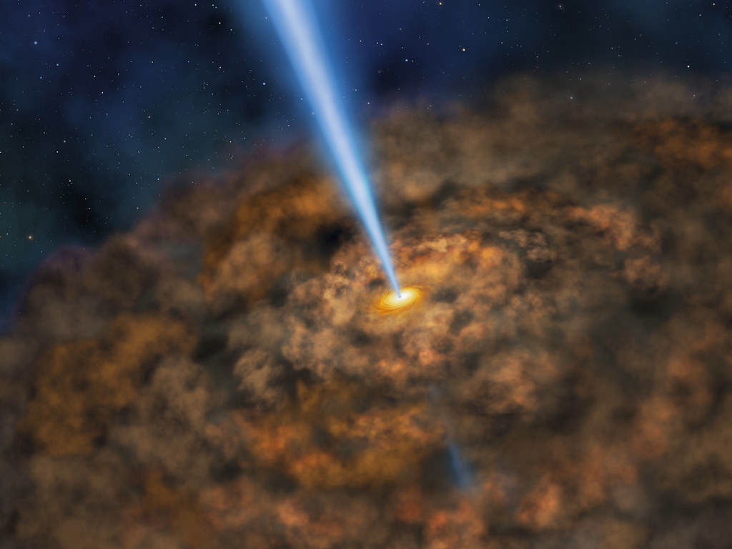 Illustration of Cool Dust Around an Active Black Hole