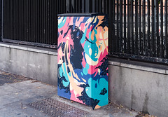 NEW STREET ART BY CAIZ [THE TRAFFIC LIGHT CONTROL CABINET ON BOLTON STREET]-129713