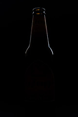 Beer in silhouette