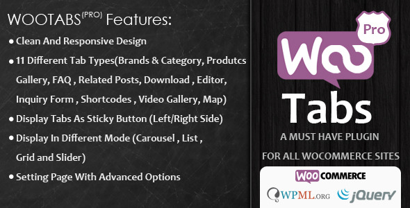 Woocommerce Tabs Pro v2.8 – Extra Tabs for Product Page