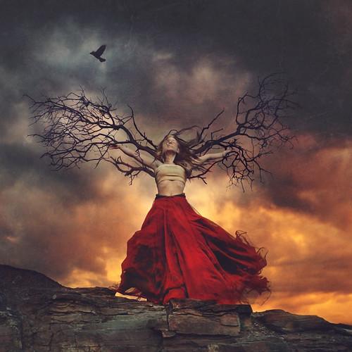 haunted wings por Brooke Shaden