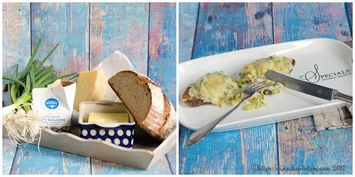 Frühlingszwiebel-Käsetoast Collage