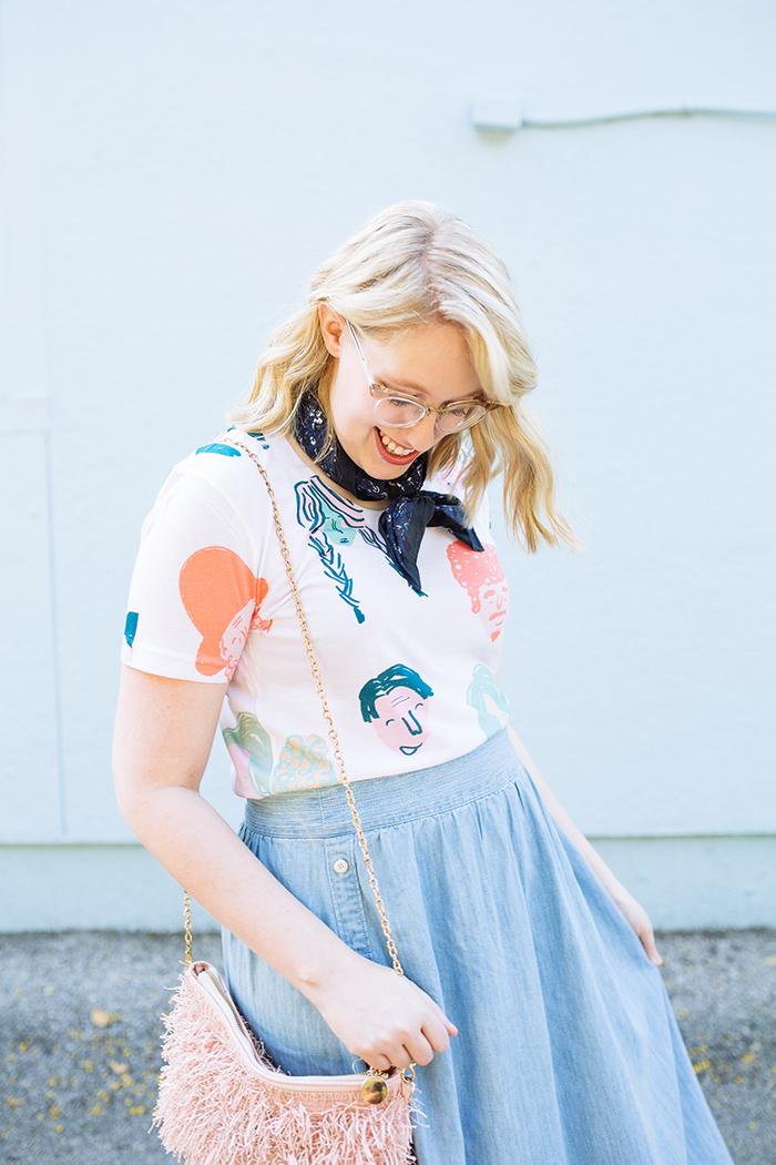 austin style blogger writes like a girl chambray madewell midi skirt15