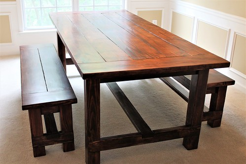 It was a busy week. Delivered this beautiful 7 ft. Farmhouse table with two matching benches to a customer in Atlanta. If you want a customized piece of furniture, visit www.oceanwestdesigns.com.