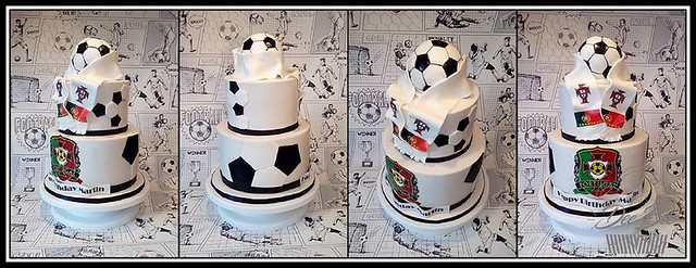 Portugal Team Football Cake by Dorota Bondarczyk of DeeBee Cakes Portadown