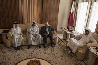 Secretary Tillerson Meets With the Emir of Qatar in Doha