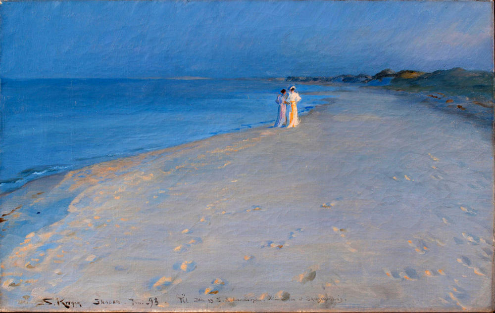 Summer evening at the South Beach, Skagen by Peder Severin Krøyer, 1893