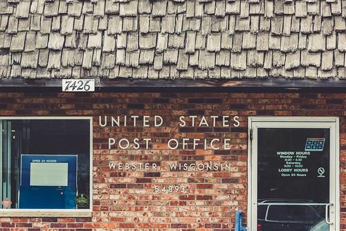 U.S. Post Office - Webster, Wisconsin 54893