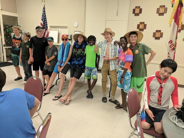 2017-06-15 Troop meeting - start of summer!