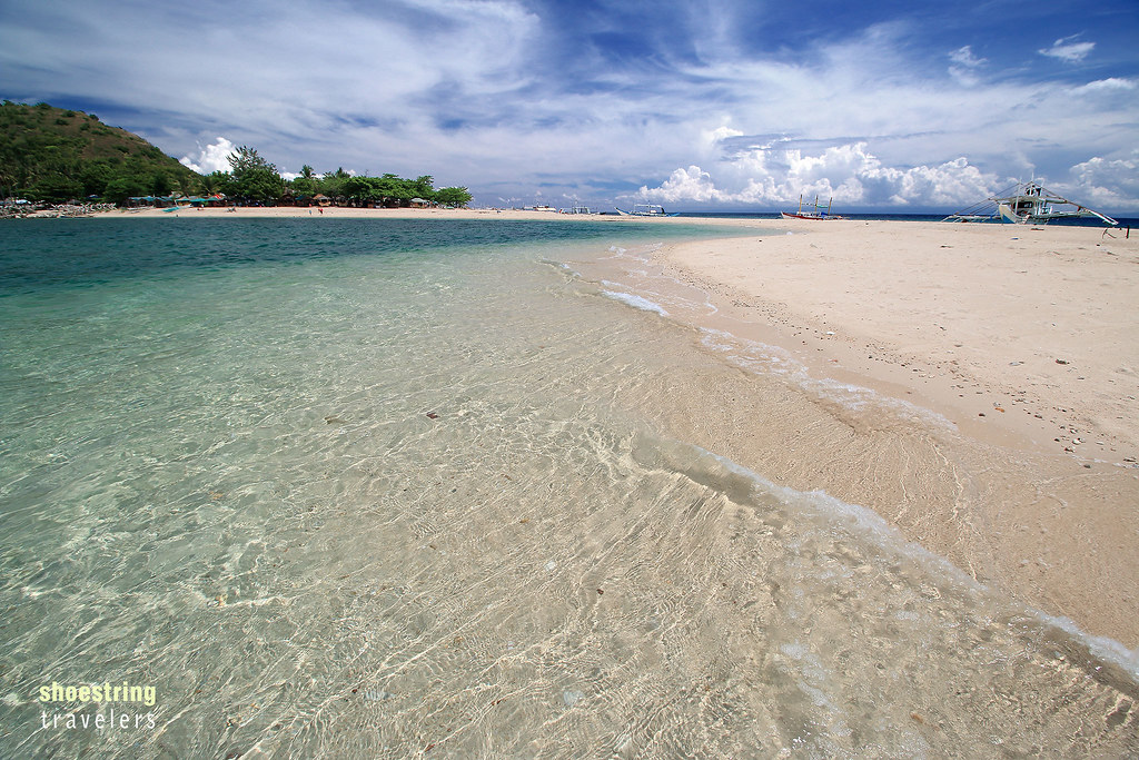 the sandbar at Malalison Island