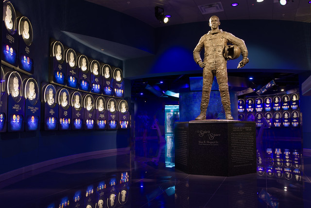 Alan Shepard at the US Astronaut Hall of Fame