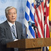 Media stakeout following SRSG Tadamichi Yamamoto's briefing to the Security Council.
