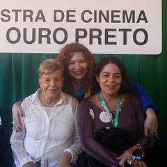 Mulheres que preservam:  Alice Gonzaga, Aurora Miranda Leão e Tereza Bandeira de Melo.  #blogauroradecinemaregistra  #amazing #cineop #ouropreto #cinema #alicegonzaga #movies #mostradecinemadeouropreto