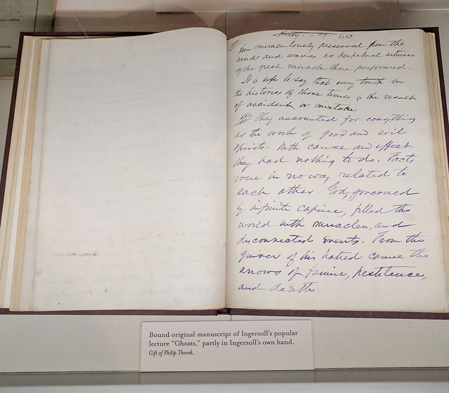 "Manuscript of Ingersoll's ""Ghosts"" lecture"