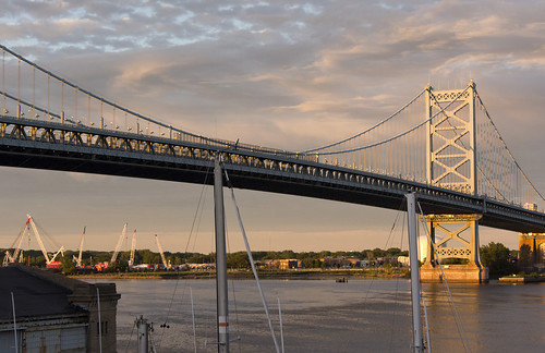 benfranklinbridge sunset