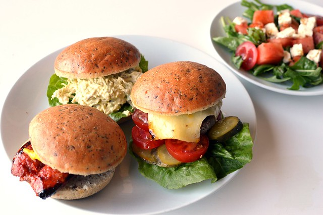 Sandwiches with Helga's gluten free gourmet rolls