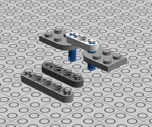 Technic plate train coupler