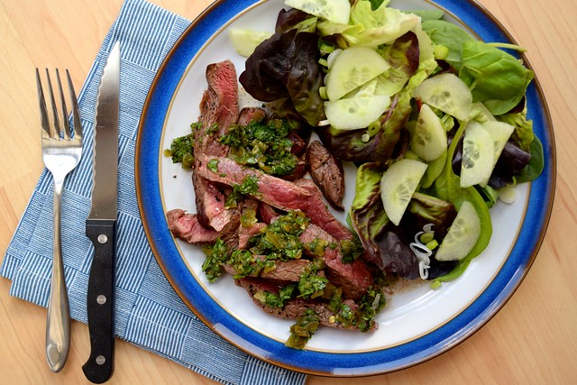 Sliced Steak with Pickled Jalapeño Relish | www.rachelphipps.com @rachelphipps