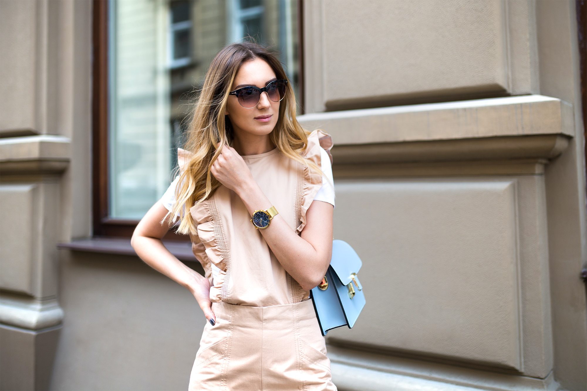 fashion-blogger-ganni-nude-ruffle-jumpsuit