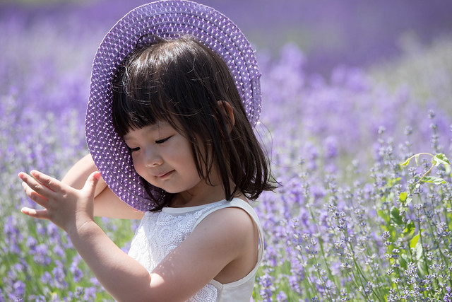 Lavender Girl and her Hat