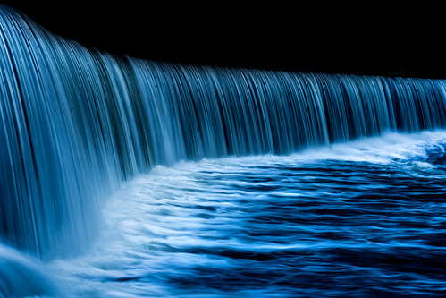 flow landscape life light nature outdoor stream water waterfall blue