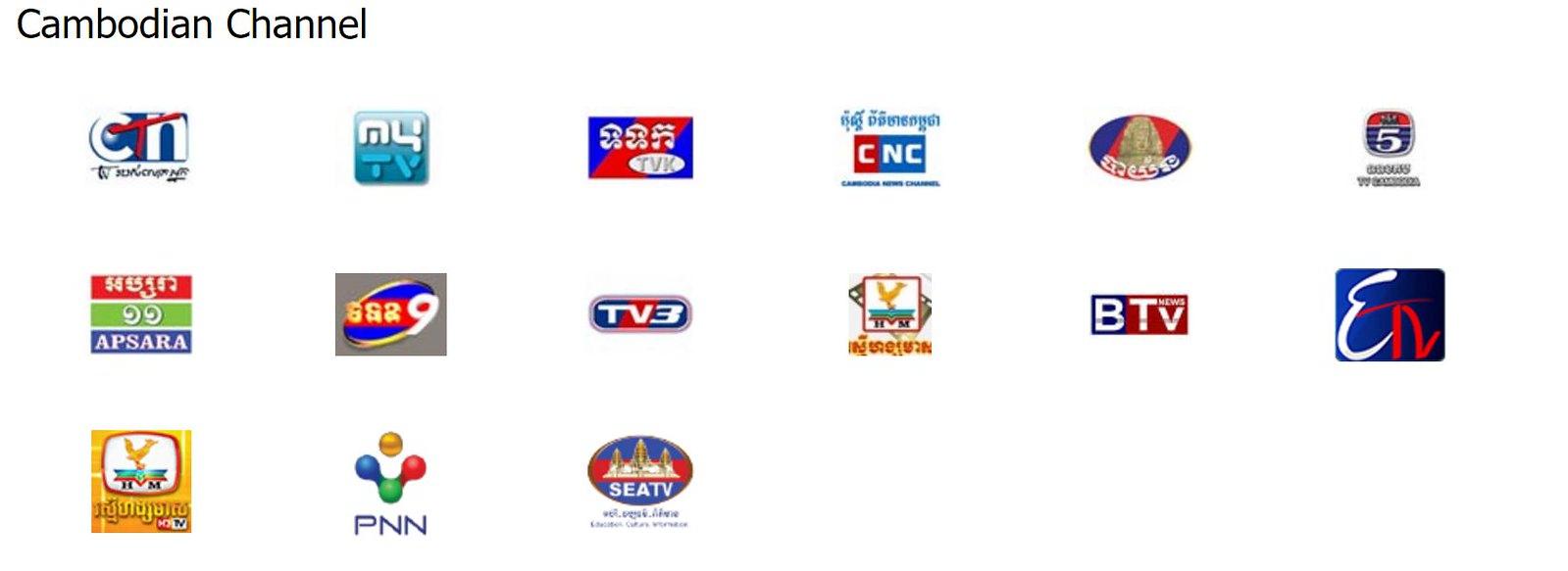 Danh sách kênh DTV Cambodia
