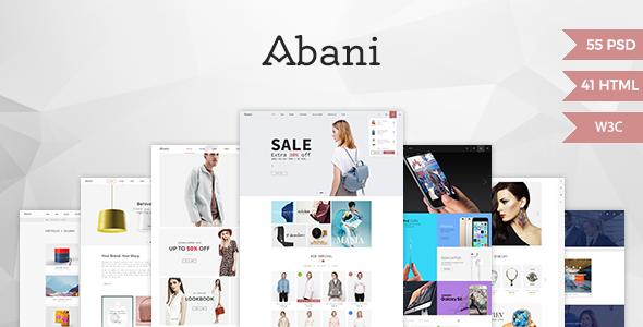Abani v1.1 – Multi Purpose eCommerce HTML Template