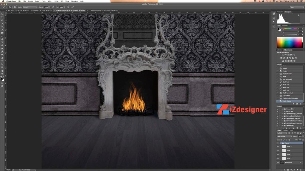 Hiệu ứng lửa cháy trong Photoshop bằng Flame Filter