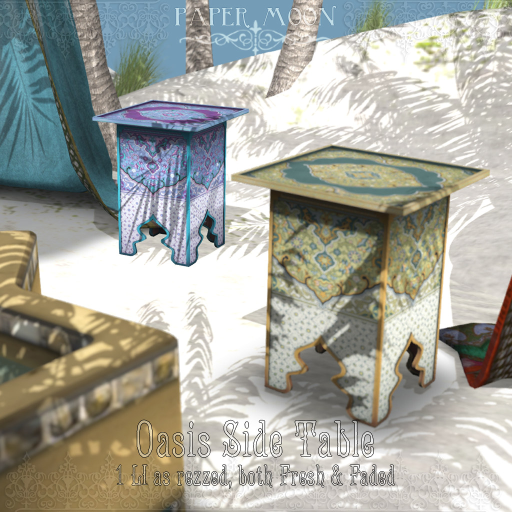 *pm* Oasis Side Table - SecondLifeHub.com