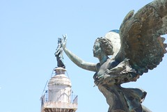 The Angel of Vittorio Emanuele II Caressing St Peter at the Top of Trajan's Column