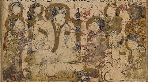 As-Saffah is proclaimed the caliph, from a Tarikhnama, or Book of history