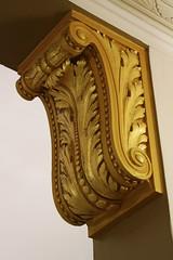 Ornate cornice at the Drury Inn Hotel, San Antonio