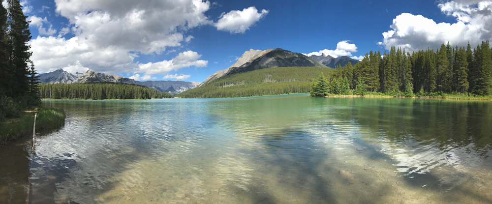 Panorama of Two Jack Lake, Banff