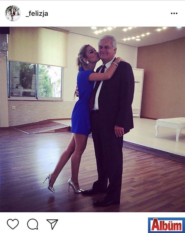 Filiz Çınar, babasının Babalar Günü'nü kutlarken paylaştığı fotoğraf ile beğeni topladı.