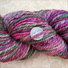 Moss Rose handspun, close up