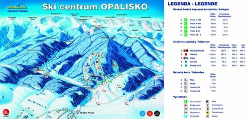 Opalisko - mapa zjezdoviek
