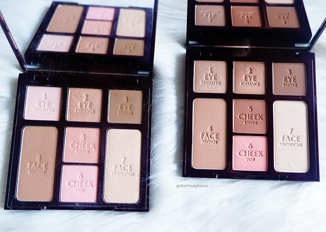 Charlotte Tilbury Instant Look in a Palette Natural Beauty vs Beauty Glow