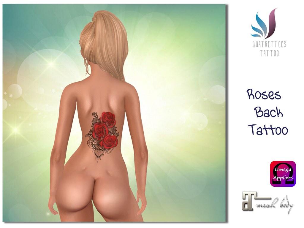 3 Roses Back Tattoo - SecondLifeHub.com