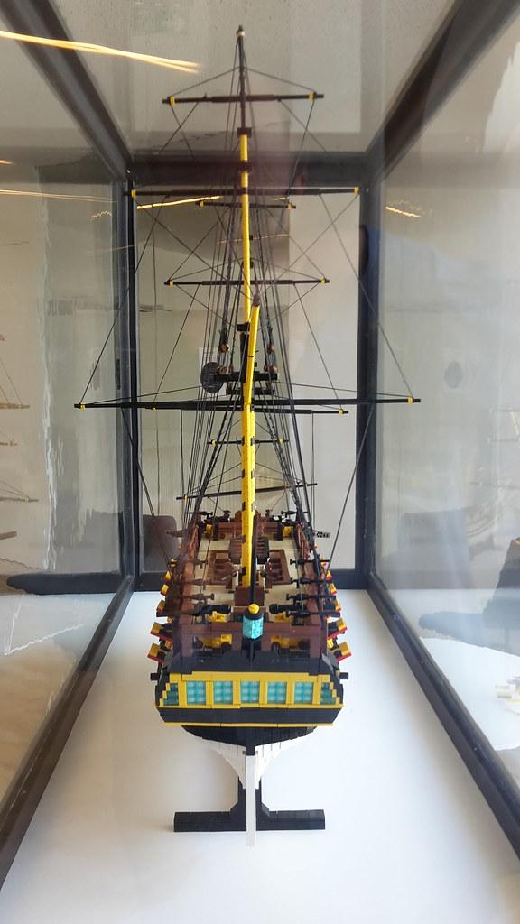 HMS Ontario på M/S Museet for Søfart  Agterspejl