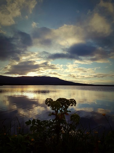lake laugarvatn summer sunrise clouds sky iceland oeiriks water reflection