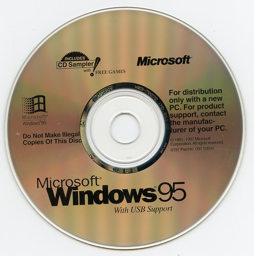 Microsoft Windows 95 With USB Support (Microsoft)(000-59944)(1997)