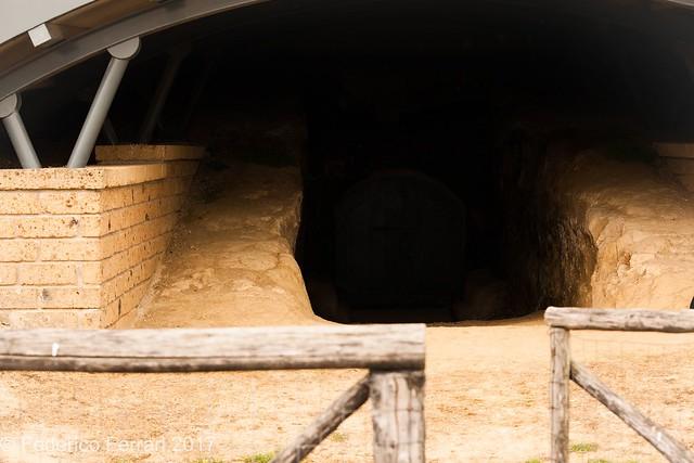Tomba dei leoni ruggenti  ingresso principale