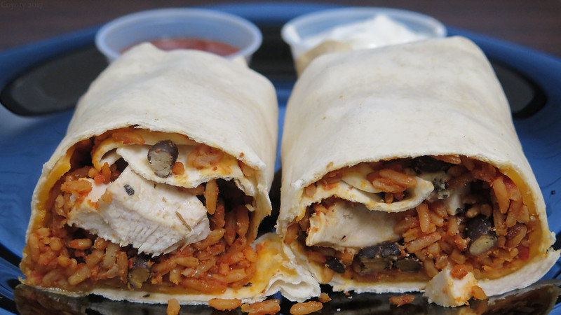 Chicken burrito