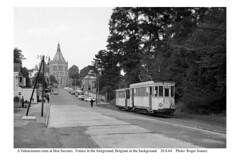 Bon Secours. Valenciennes tram departing. 20.8.64