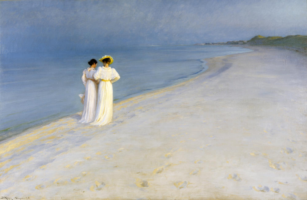 Summer Evening on Skagen's Southern Beach by P.S. Krøyer, 1893