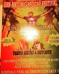 Come out on Saturday July 29th #sareggae #reggae #kingyellowman #yellowman #reggaemusic #tantometroanddevonte #skunkbros #reggaebar  #Event is: 11am to11pm #safoodbank #thereggaebar #rosedalepark #sanantonioreggaefestival