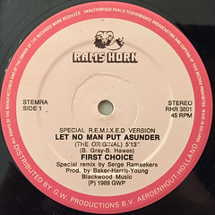 FIRST CHOICE:LET NO MAN PUT ASUNDER(REMIX)(LABEL SIDE-A)