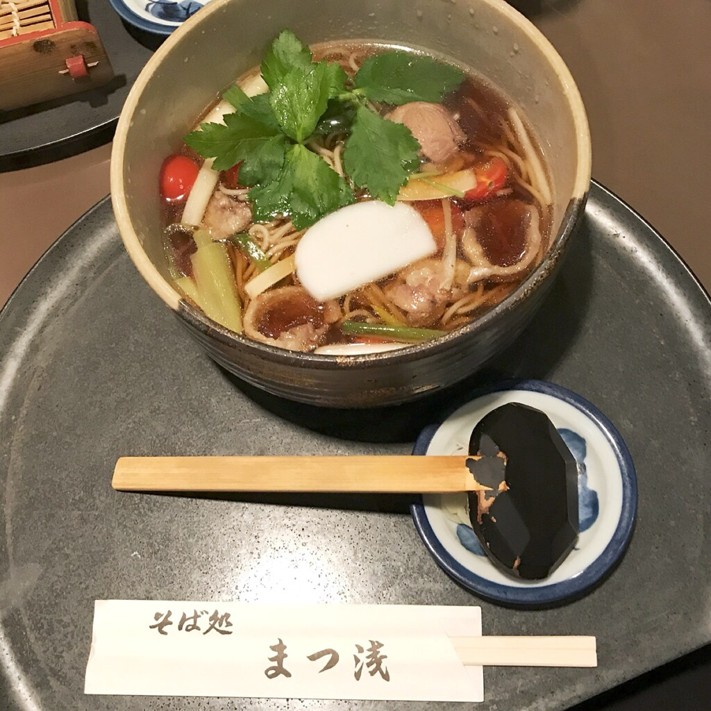 Lunch:tomato& duck meat soba