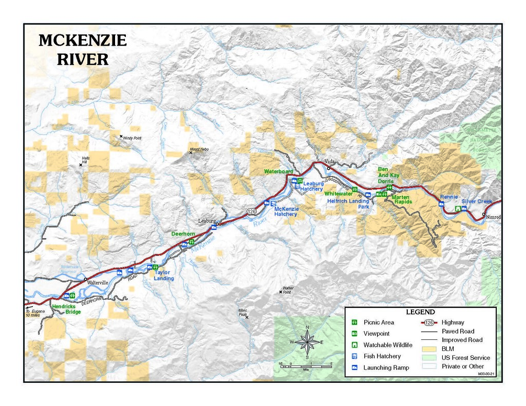 Mckenzieriver Map The River Visitor Is Apt To Be Rewarded Flickr